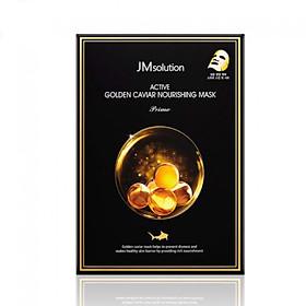 Hộp 10 miếng Mặt Nạ Cấp Ẩm, Ngăn Ngừa Thâm, Nám JM Solution Active Golden Caviar Nourishing Mask 10x 30ml