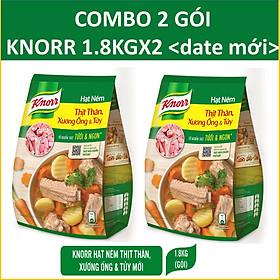 COMBO 2 gói hạt nêm Knorr Thịt thăn (xương ống&tủy) 1800gX2
