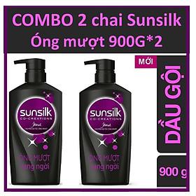COMBO 2 Chai dầu gội Sunsilk Óng mượt rạng ngời - Đen 900g