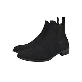 Giày Chelsea boot nam màu đen da lộn Revision 2
