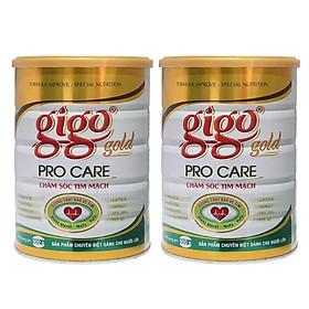 Combo 2 hộp Sữa Bột Gigo Gold ProCare (900g) – Chăm sóc tim mạch