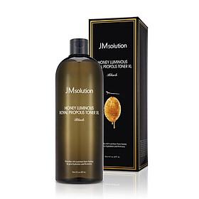 Nước cân bằng dưỡng ẩm chống lão hóa da Jmsolution Honey Luminous Royal Propolis Toner XL 600ML [DUNG TÍCH KHỦNG]