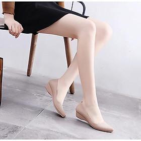 Giày búp bê nữ bệt có độn chiều cao mà nhựa dẻo êm mềm đi lại siêu thích không sợ đau chân G01