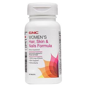 Thực Phẩm Chức Năng Hỗ trợ làm đẹp da tóc, móng và chống lão hóa cho cơ thể GNC WOMEN'S HAIR, SKIN & NAILS FORMULA chai 60 viên