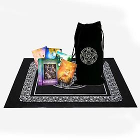 Combo Bộ Bài Bói Tarot Fairy Tarot Cards Cao Cấp và Túi Nhung Đựng Tarot và Khăn Trải Bàn Tarot