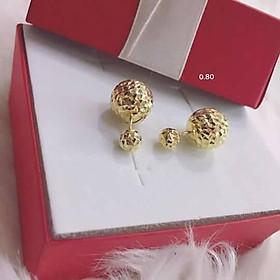 Bông tai bi phay mạ vàng 18k đẹp (ảnh thật - hàng có sẵn)