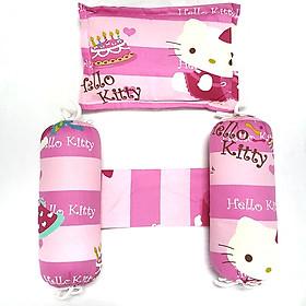 Bộ Gối chặn+Gối nằm Mèo Kitty hồng