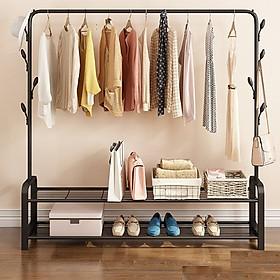 Giá treo quần áo kiểu hàn quốc nhiều chức năng (giao màu ngẫu nhiên)
