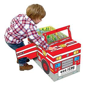 Sách Tương Tác - Convertible - Sách biến hóa mô hình - Fire engine - Xe cứu hỏa