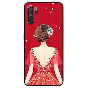 Ốp lưng dành cho Vsmart Active 3 mẫu Cô Gái Váy Đỏ