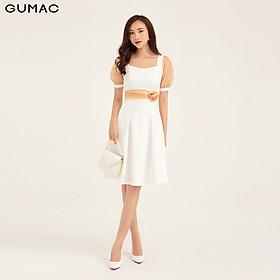 Đầm eo hoa tay phối GUMAC DB159
