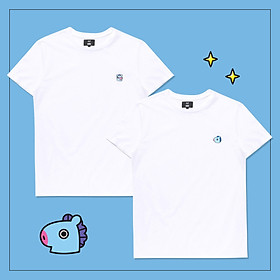 Set 2 áo thun BT21 x HUNT 2Pack Set White Mang HIXH8A801T