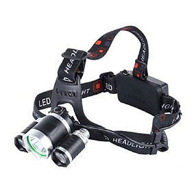 Đèn Pin đội đầu 3 bóng - 3 chế độ chiếu sáng linh hoạt