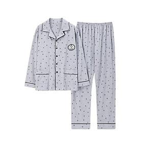 Đồ bộ Pijama-Đồ ngủ nam cao cấp phong cách Hàn Quốc, chất COTTON 100 dày dặn & thoáng khí (709)