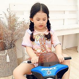 Set đồ bộ quần áo bé gái in hình 3D chú Hưu Cao Cổ siêu dễ thương - Độ tuổi 1 - 10 - AKN008