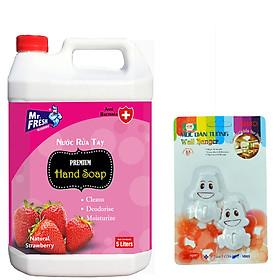 Nước rửa tay khử mùi ,diệt khuẩn Mr.Fresh 5L - Tặng vỉ 2 móc dán tường hình ngẫu nhiên