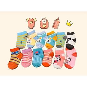 Set 2 đôi tất trẻ em    chất liệu cotton đẹp size cho bé 1 đến 3 tuổi, hình đẹp sắc nét giá siêu rẻ