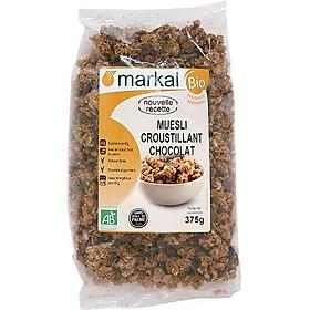 Ngũ cốc muesli giòn sô cô la hữu cơ Markal 375g