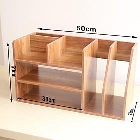 Kệ để hồ sơ văn phòng tiện lợi, kệ sách để bàn nhỏ gọn gỗ MDF chống ẩm cao cấp