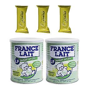 Combo 2 hộp Sữa bột France Lait LF 400g - Tăng cường sức đề kháng  và hệ thống miễn dịch, hỗ trợ phát triển và bảo vệ hệ tiêu hóa cho Trẻ Tiêu Chảy từ 0 – 12 tháng tuổi - Tặng 03 bánh Quế cuộn