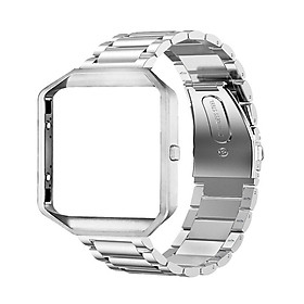 Stainless Steel Wrist Band Classic Bracelet Elegant Strap Frame for Fitbit Blaze Smart Watch