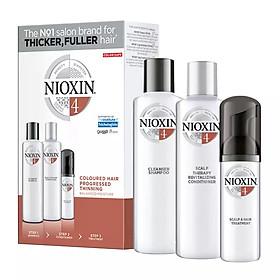 Bộ dầu gội xả du lịch Nioxin 4 Colored Hair Progressed Thinning Travel Kit cho tóc nhuộm có dấu hiệu thưa rụng Mỹ 150ml