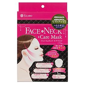 Mặt nạ chăm sóc da mặt và da cổ S-Labo Face&Neck Care Mask (Hộp 5 miếng)