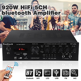 220V 920W 5CH Bluetooth Stereo Amplifier LED Support USB Disk/SD Card Home