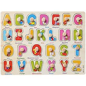 Bảng ghép vần chữ cái tiếng Anh núm gỗ