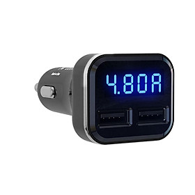 4.8A Intelligent Voltage Current Detection Dual USB Fast Car Charger Adapter