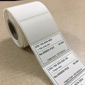 [ Set 10 cuộn] Giấy decal nhiệt in tem trà sữa 50x30mm ( Hàng nhập khẩu)