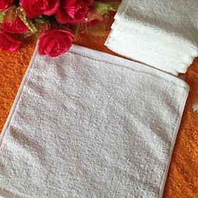 Combo 10 khăn lau vuông trắng