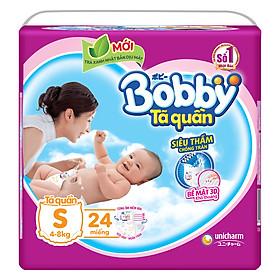 Tã Quần Bobby Gói Trung S24 (24 Miếng)
