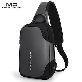 MARK RYDEN Portable Fashionable Casual Anti-Thief Multifunctional Waterproof USB Charging Men Single-Shoulder Bag