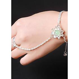 Vòng tay thương tâm hoa tru tiên bản xanh dạ quang phụ kiện trang sức nữ thiết kế độc đáo phong cách cổ trang cổ điển tặng ảnh thiết kế vcone