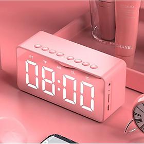 Loa Bluetooth Mặt Gương Kiêm Đồng Hồ Báo Thức BT506 V5.0 - Có Khe Cắm Thẻ Nhớ