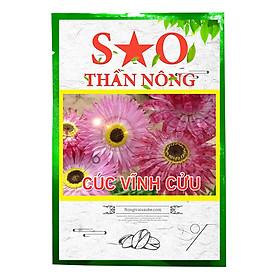 Hạt giống cúc vĩnh cửu Sao Thần Nông màu hồng nhẹ -gói 50 hạt  cây siêng ra hoa dễ gieo trồng và chăm sóc thời gian sinh trưởng nhanh hạt giống có tỉ lệ nảy mầm cao