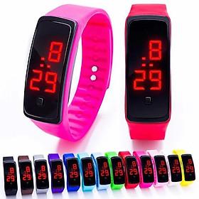 Đồng hồ thời trang trẻ em led SHOCK RESIST l9k ,hiển thị thời gian và ngày tháng,dây silicon nhiều màu.