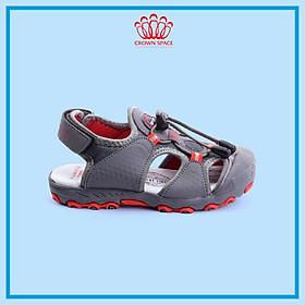 Sandals Bít Mũi Bảo Vệ Chân Nam Cao Cấp Kiểu Dáng Thể Thao Crown Space UK active CRUK804 Nhẹ Êm Thoáng Khí Dành cho Bé Trai Từ 4 đến 14 Tuổi/Size 26-35