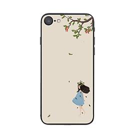 Ốp lưng điện thoại iPhone in họa tiết Cô gái đội vòng nguyệt quế dưới tán cây - THNH0015