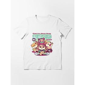 Áo phông trắng IN HÌNH Kimetsu no Yaiba - Thanh Gươm Diệt Quỷ anime chibi