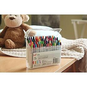 Hộp Bút Màu, Bút Sáp 64 Màu Cho Bé Kèm Gọt Bút Chì - Hộp Nhựa Đẹp Loại 1
