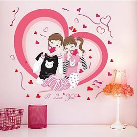 Decal dán tường tình yêu i love you