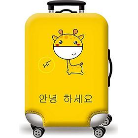 Túi bọc bảo vệ vali -Áo vỏ bọc vali - Hươu Cao Cổ H112