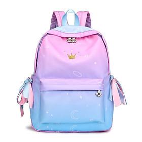 Balo hồng ombre dễ thương đi chơi đi học tiện dụng đựng đồ học tập, ipad, điện thoại kiểu dáng hàn quốc Ngolas ROB033