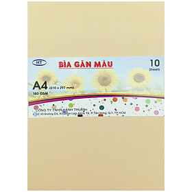 Bìa Gân A4 HT 180gsm - Màu Kem