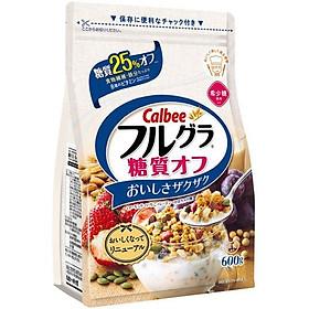Combo 2 gói Ngũ cốc Calbee gói trắng 600gr (Giảm 25% đường)