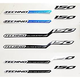 Tem chữ techno 150 cho vario
