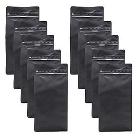 Túi Zip Đáy Bằng Pocket Đen Mờ (13 x 26.5 cm)