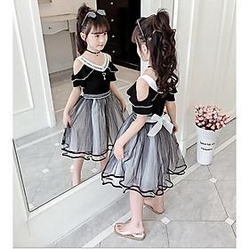 Đầm cho bé gái hàng quảng châu cho bé từ 3 đến 14 tuổi - AA14